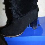 Зимние ботиночки полностью натуральные 39 р.