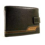 Кошелек мужской кожаный черный, коричневый карты, монеты Prensiti 8948a
