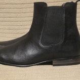 Качественные черные кожаные полусапожки - челси Burton.menswear Англия