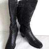 Женские зимние кожаные сапоги Molka