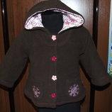 куртка флис деми пальто 1-2 года