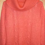 Ажурный свитерок кораллового цвета р 48-50