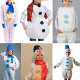 Прокат, продаж костюма сніговик, сніговика, снеговик, сневичок від 2 до 12 років - Позняки