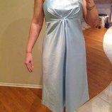 Платье вечернее атлас 46-50 новое