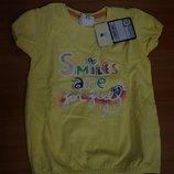 D-395 футболка с&а Smiles желт.рр. 80