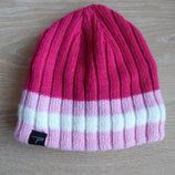 шапка розовая зимняя 3-4 г на девочку флис parallel