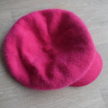 берет шапка розовая ангора