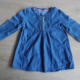 туника платье рубашка кофта 18-24 мес ждинсовая F&F синяя
