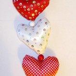Сердечки - подвеска на люстру, подарки любимым
