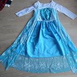 карнавальный костюм эльза 6-9 лет голубой оригинал