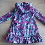 куртка плащ 1,5 - 2 года цветочный принт Marks&Spencer Маркс и Спенсер