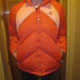 Яркая легкая фирменная пуховая лыжная куртка Lands'End. Сша. S.