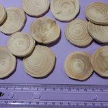 Заготовка для рун. Круглый срез сосны 3 - 4 см