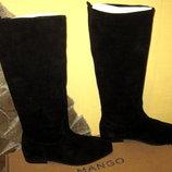 замшевые сапожки испанского бренда Mango,натуральная замша