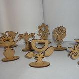 Цветы деревянные для декора