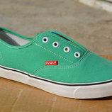 Кеды слипоны аналог ванс Vans зеленые