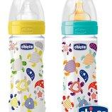 Новая бутылочка полипропиленовая с силиконовой или латексной соской 2 Chicco