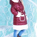 Куртка для девочки «Герда», размер 128