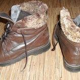 Ботинки фирменные, тимберленды, 100% кожа