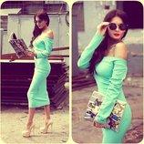 Хит Платье демисезонное 7 цветов