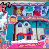 Кукольный дом 1205AB музыка, свет, мебель, фигури