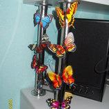 Бабочки 3D на магните, для украшения дома, поштучно, и комплектом, есть светящиеся в темноте