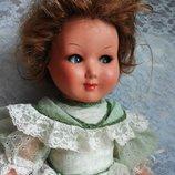Итальянская, винтажная кукла с флиртующими глазками. 44 см