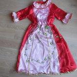 звездочка зірочка РОСТ 122-128 платье девочке красное розовое новогоднее утреник блестки оригинал