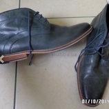 Итальянские туфли ботинки р.40-41 27 см в идеале