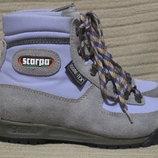 Яркие комбинированные трекинговые ботинки Scarpa gore-tex. Италия. 37.