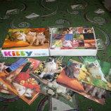 Деревянные кубики-пазлы с кошками