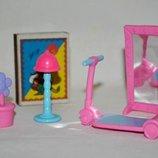 разные аксессуары для куколок барби и не только фигурки