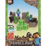 Minecraft Papercraft Hostile Mobs Set, Over 30 Piece Майнкрафт бумажный набор «Вражеские мобы»