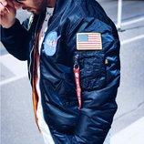 NASA MA-1 FLIGHT JACKET Альфа Индастри Куртка ветровка мужская наса флайт жакет