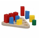 Новая деревянная развивающая игрушка по методике Монтессори геометрические фигуры Комаровтойс