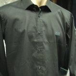 Рубашка черная Boss XL