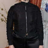 Стильная женская куртка-бомбер жатка фирма look
