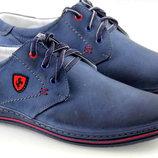 кожание синие мужские ботинки