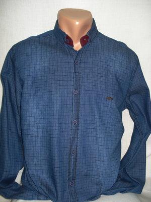 Рубашка джинсовая в клеточку Joy Plus S,L,XL,