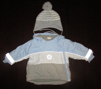 Термо-Куртка шапка H&M на 6-9 мес. рост 74см. реально до 12 мес.