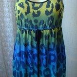 Платье женское летнее легкое вискоза стрейч мини бренд George р.46 5076