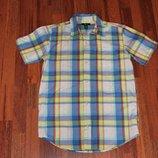 яркая стильная рубашка в клетку Gap рост 160 см 13-16 лет для мальчика подростка
