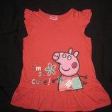 яркое платье туника с Пеппой на 5-6 лет, Peppa Pig