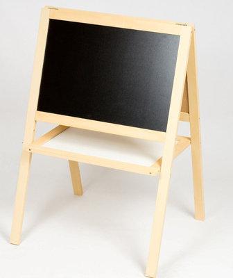 Мольберт двусторонний детский деревянный магнитный цветной