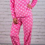 Пижама подростковая для девочки теплая велсофт на рост 134