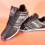 Женские черные кроссовки для бега и тренировок. Размеры 36-41.