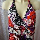 Платье женское летнее яркое сарафан макси бренд George р.48 5236