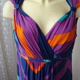 Платье женское летнее легкое вискоза стрейч сарафан макси бренд Per una р.52 5306