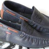 Мужские туфли мокасины Levis кожа стиль комфорт и практичность .