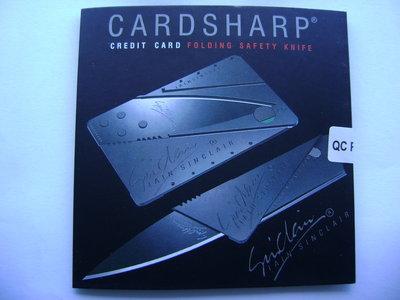 Нож-Кредитка CardSharp карманный складной нож